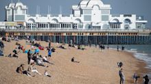 Brits flock to beaches and parks to enjoy warm weather before cold blast hits on Easter Monday