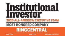 Institutional Investor Ranks RingCentral's CEO, CFO, and Investor Relations First Place in Each Individual Category for 2020 All-America Executive Team Software Sector
