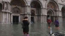 Extreme flooding puts famous Venice landmarks underwater