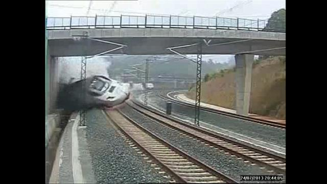 Spain disaster: images of the train crash