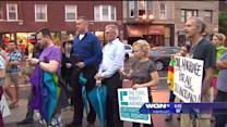 Supporters of same-sex marriage march in Lakeview