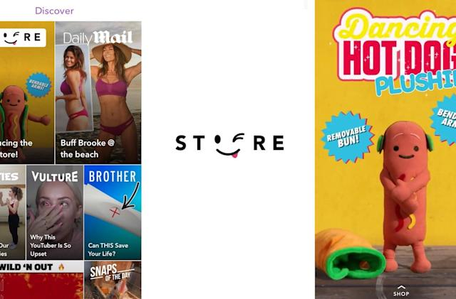 Snapchat's in-app Snap Store peddles memetastic merch