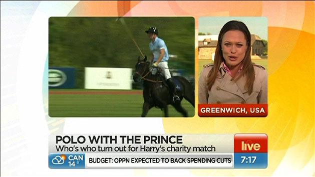 Harry plays polo in the US