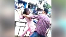 Assam: Shocking viral video shows man trying to abduct girl; beats her as crowd watches silently