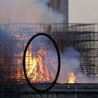 Some on social media believe they see Jesus in burning scaffolding at Notre Dame