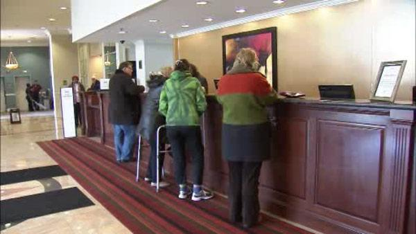 Hotel business is booming after ice storm