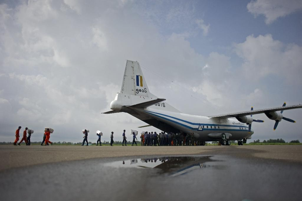 A Myanmar military plane -- similar to the model shown -- carrying 122 people went missing between the southern city of Myeik and Yangon
