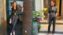 Shop the look: Jessica Mulroney steps out in not one, but two pantsuits for TIFF