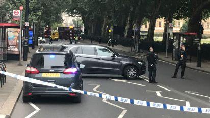 London crash being treated as 'terrorist incident'