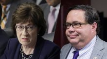 Sen. Collins caught on hot mic swiping back at 'unattractive' congressman's duel challenge