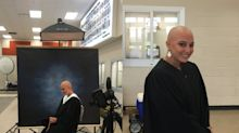 Teen, bald from cancer treatments, poses for beautiful senior photos