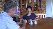Trickster dad pranks kids with 'wrong right answer' during hidden cup game