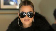 Khloe Kardashian Wears Leather Leggings & 5-Inch Louboutins To Give Away $50,000