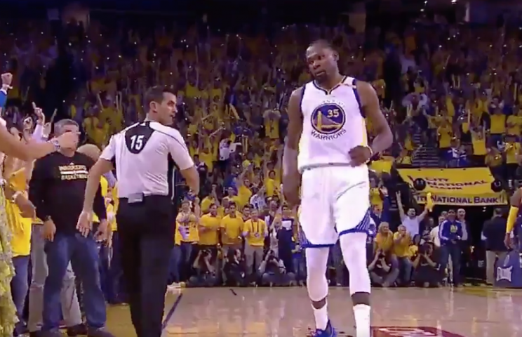 f5cce7f924c5 Did Kevin Durant stare down Rihanna during the Warriors  Game 1 NBA Finals  win
