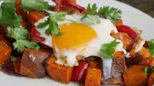 One-Pan Sweet Potato and Egg Hash