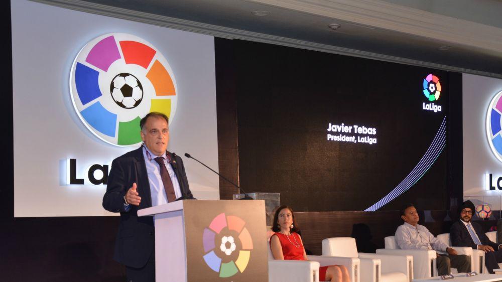 """Javier Tebas, presidente de LaLiga: """"Catalogaría a Messi como el mejor de todos los tiempos"""""""