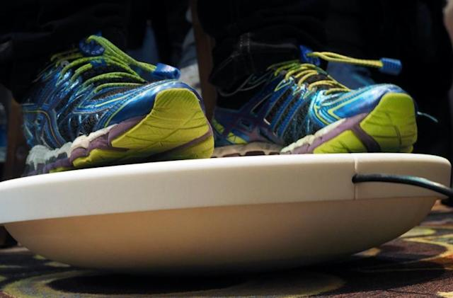Use your feet to fly around a virtual world