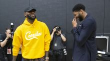 LeBron James already practicing with Anthony Davis and DeMarcus Cousins ... in a video game
