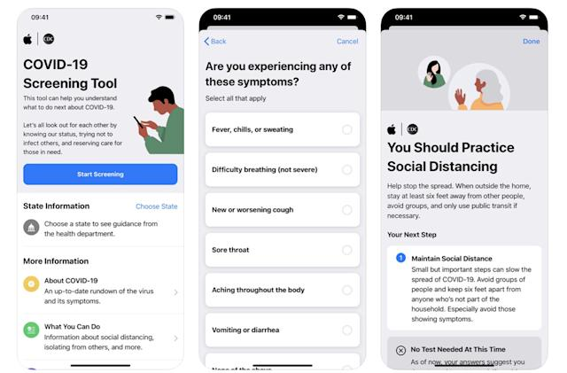 Apple's COVID-19 screening tool can anonymously share symptoms with the CDC