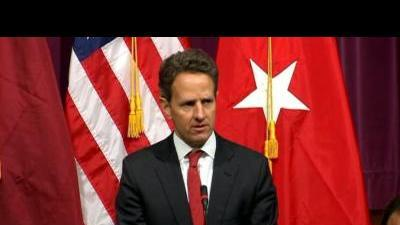 Geithner delivers warning to Syria