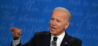 Biden responds in kind when Trump cuts him off at debate