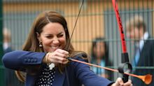 Kate shoots straight and William blames his shoes on sporty Midlands visit