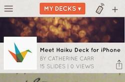 Haiku Deck extends on-the-go presentations to iPhone