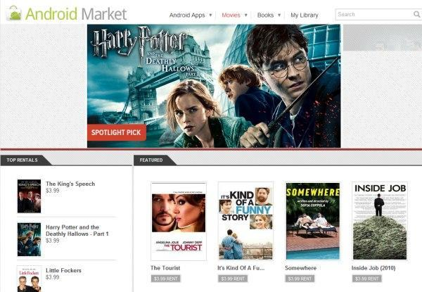 Android Market launches movie rentals, thousands of titles available to your PC, phone or tablet