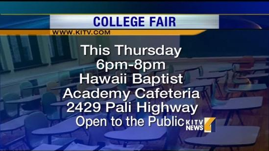 College Fair for Hawaii Students