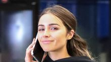 Olivia Culpo Wears the Highest Skinny Jeans & Sleek Boots in a Monochromatic Moment