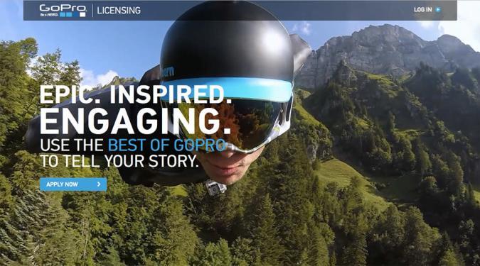 GoPro's licensing portal sells creators' high-quality videos