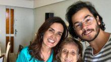 Fátima Bernardes lamenta morte da avó do namorado, Túlio Gadêlha