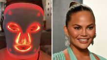 Chrissy Teigen takes self-care to new heights with $570 LED face mask