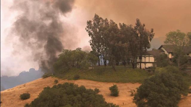 Fire fight continues in Hidden Valley area