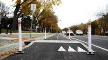 Two-way protected bike lanes open on Regina's Park Street