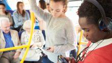 Men are sending explicit photos to women on public transport