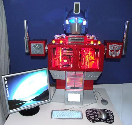 Optimus Prime PC case mod stands nearly seven-feet tall