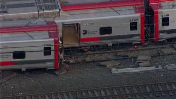 Two Metro North trains crash in Connecticut