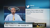 Trading your tweets: Hold off on Red Hat?
