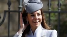 Kate Middleton Recycles Springlike Alexander McQueen Look With Gray Pumps for Easter Services