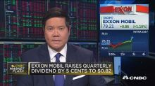Exxon Mobil raises dividend, stock hits session high