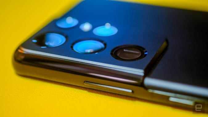 Samsung Galaxy S21 Ultra camera sensors