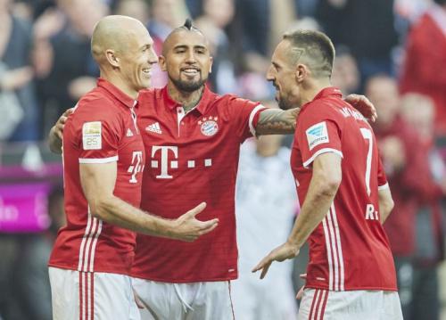 Die Bayern gehen voller Selbstbewusstsein in den Kracher gegen Real Madrid. (Bild: ddp)
