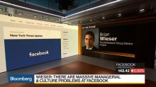 Facebook Analyst Wieser Sees 'Massive' Managerial, Cultural Problems