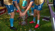 Empolgou! Zenit conquista Copa da Rússia, mas capitão quebra troféu na comemoração