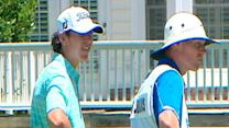Grayson Murray caddies at Rex Open