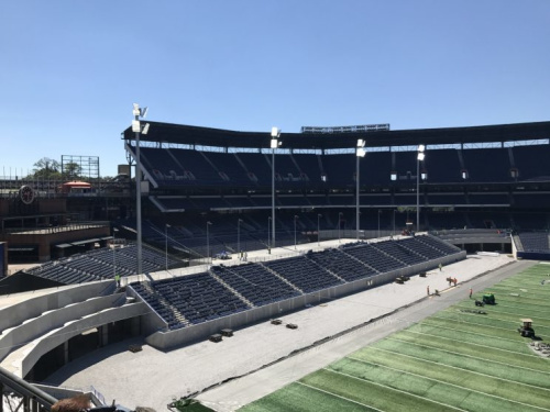 New grandstands constructed in what was right field at Turner Field. (Yahoo Sports)