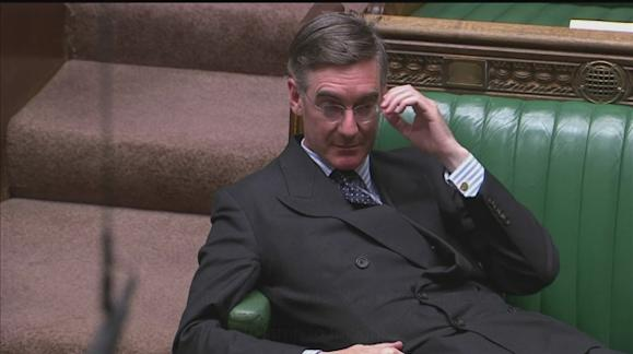 This photo of 'arrogant, entitled' Jacob-Rees Mogg is going