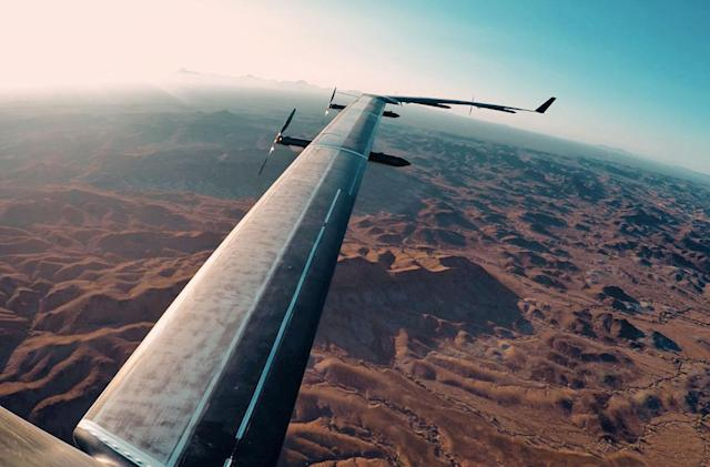 Facebook's solar-powered drone makes first full test flight