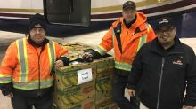 Flying food heads to the remote north, after donations pour in for Sounds of the Season